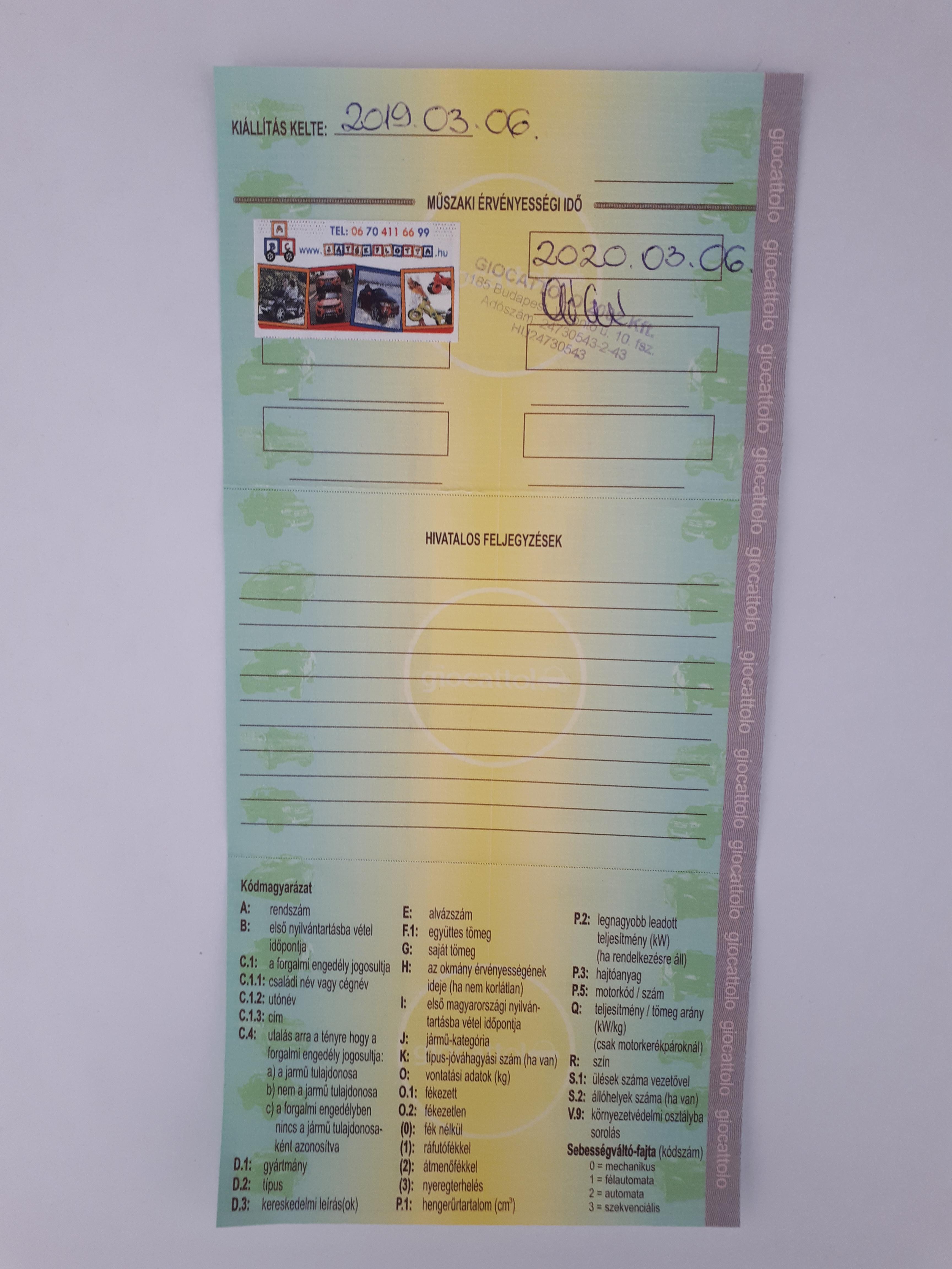 Kormányablak - Feladatkörök - Forgalmi engedély cseréjére irányuló kérelem