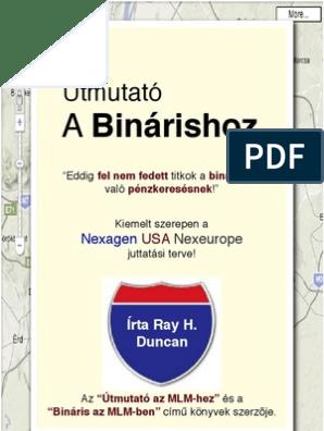 könyvek bináris lehetőségek)